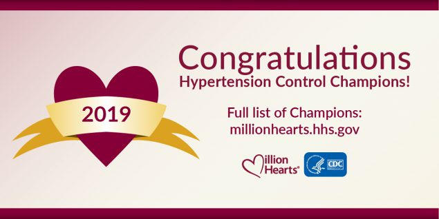 Million Hearts congratulations banner